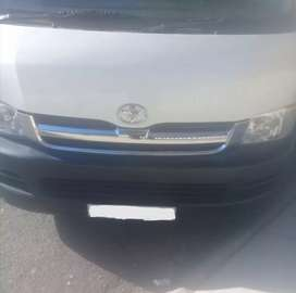 Toyota Quantum High Front Bumper and Chrome Grille