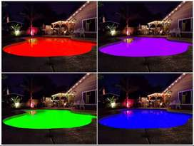 SWIMMING POOL LED COLOUR-CHANGING LIGHTS