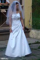 Suknia ślubna biała 36 Fason litera A