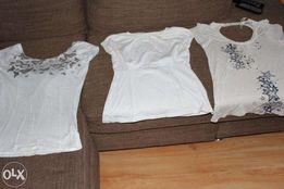 3 bluzeczki baweniane 2 nowe =36