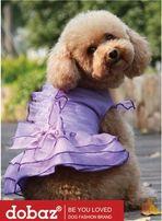 Elegancka Sukienka Dobaz fioletowa dla psa roz. S