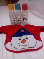 Бутылочки Nuk, слюнявчик + подарок соска новая Nuk