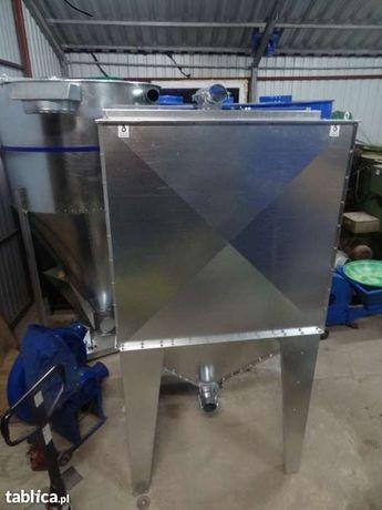 Zbiornik silos pojemnik do paszy zboża pelletu 2000 litrów ocynk Dakowy Suche - image 2