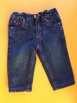 Теплые синие джинсы на флисе 68-74 см