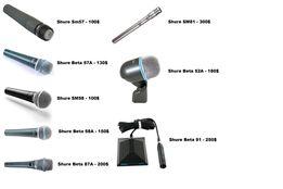 Shure SM57, SM58, SM81, Beta 58A, Beta 87A, Beta 52A, Beta 91