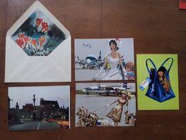 Kilka starych pocztówek i koperta Sprzedam/zamienię?