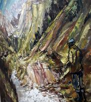Obraz 130×100 wędkarstwo muchowe wędka góry rzeka