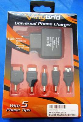 Universal Phone Charger for: Nokia, Blackberry, LG, Samsung, Sony Eric