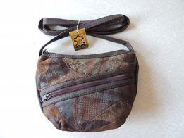 Маленькая кожаная сумка на длинной ручке, клатч, сумка кошелёк