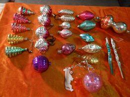 Советские новогодние игрушки на елку 25 штук одним лотом по 12 гривен