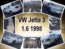 VW Jetta 3, 1.6 1998 stripping for spares.