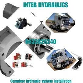 WE FIT HYDRAULIC SYSTEMS ON TIPPERS, CHERRY PICKERS, CRANE TRUCKS, ETC