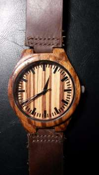 Image of mens wooden watch