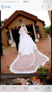 Image of Wedding Dress ball gown with veil , shoes , tiara & ring cushion incl.
