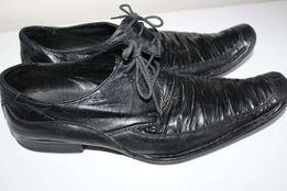 Eleganckie włoskie skórkowe buty 45