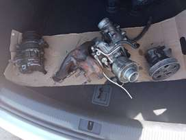 Turbo with Manifold, Aircon pump, power steering pump for sale