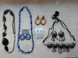 Бижутерия 2 комплекта колье сережки Біжутерія кольє для східних танців
