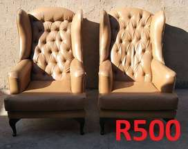 Second hand wedding decor chairs & tables