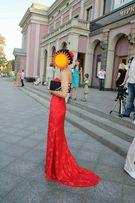 Выпускное вечернее красное платье