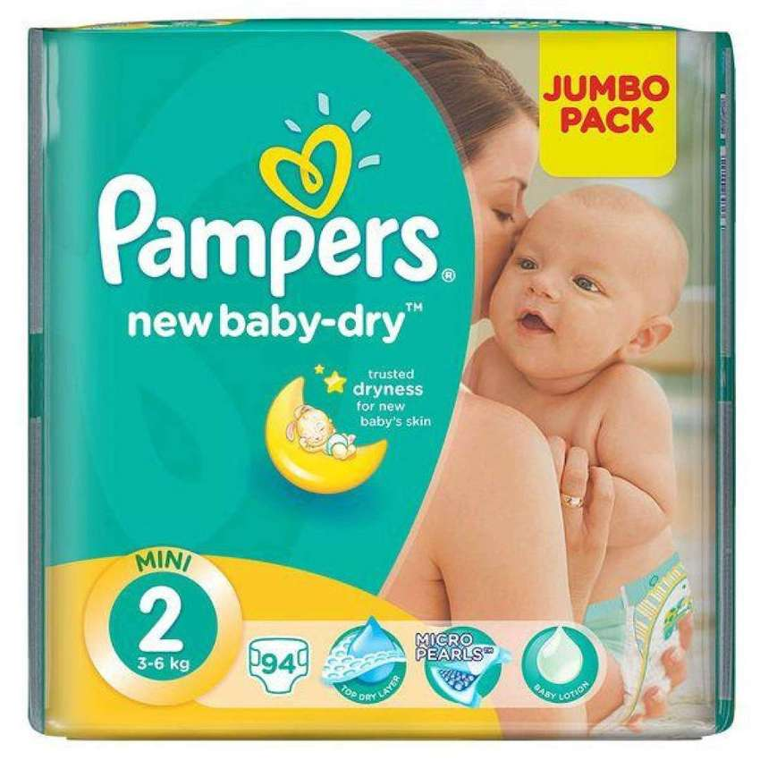 Pampers New Baby Dry - Size 2 Jumbo Pack - 94 Nappies (NEW)