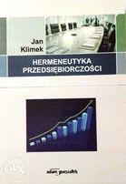 Hermeneutyka przedsiębiorczości - Jan Klimek
