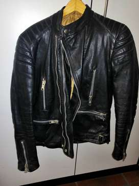 Vintage leather biker jacket - tailored by 'leather & suede' CT
