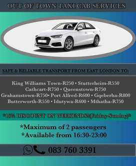 OUT OF TOWN TAXI CAB SERVICES - EAST LONDON