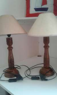 Image of 3 bedside lamps