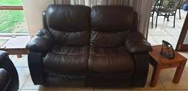 Brown synthetic leather Couches for Sale