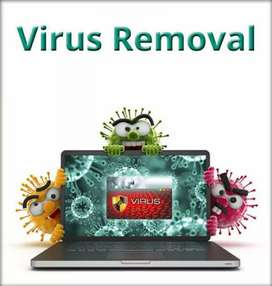 Viruses removal and troubleshooting