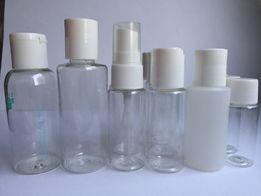 Plastikowe buteleczki do organizacji drobiazgów i kosmetyków na podróż