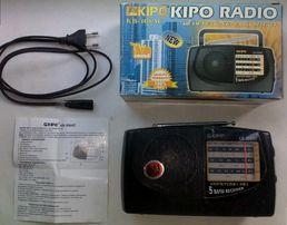 Приемник Kipo-308,ам-фм-тв 1-5 канал,кв,3-5 в пит,очень чуствительный.