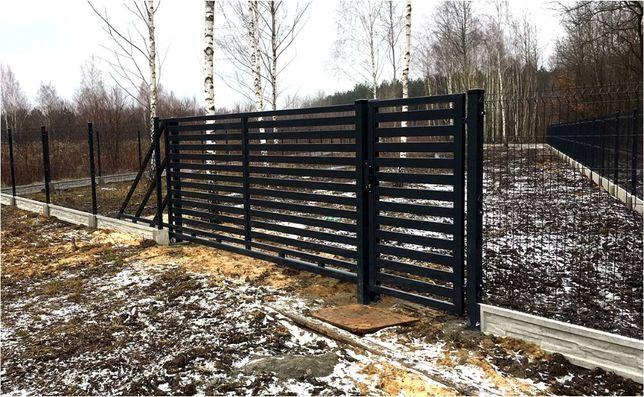 Ogrodzenia panelowe + podmurówka + montaż. 51 drutów pionowych. Błonie - image 5