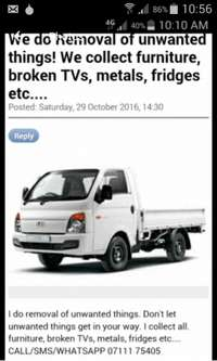 Image of Bakkie for hire.