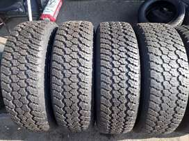 245/70/17. Four Goodyear wrangler tures available for sale