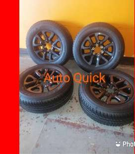 18'' Stunning set of new Toyota Legend 50 mags and tyres.
