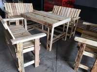 Image of Outdoor wooden Pallet furniture