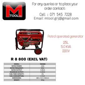 Petrol operated generator