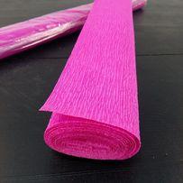 Бумага креповая 180 грамм 200% гофрированная цветная гофро папір креп