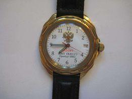 часы мужские наручные механические Восток 2414 А командирские позолота