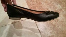 baletki skórzane czarne rozmiar 40
