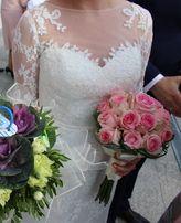 Koronkowa suknia ślubna rozmiar 36-38.Koronka francuska!