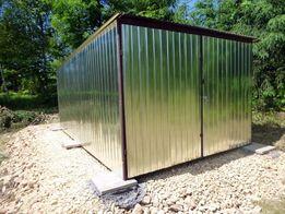 Garaże blaszane BUDOWA Garaż blaszany 3x5 Blaszak na budowę SCHOWEK