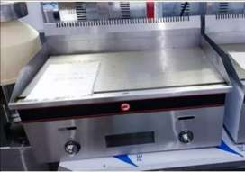 Gas Combo :Double 6lx6l gas fryer, 720mm gas griller and chip cutter