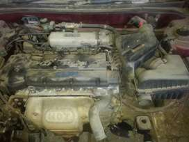 Hyundai Elantra engine and gearbox stripping for parts
