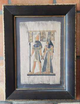 Framed Egyptian Papyrus Paintings
