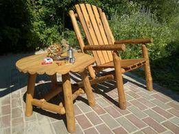 Деревянная садовая мебель для дачи или дома, столик и кресло, обмен