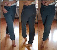 Spodnie dresowe ze ściągaczem marmurki XS