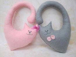 Декор Интерьерные игрушки - Пара котов, ручная работа, handmade