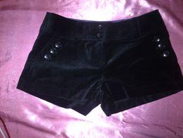 Welurowe spodenki szorty aksamitne czarne krótkie blogerskie sexy
